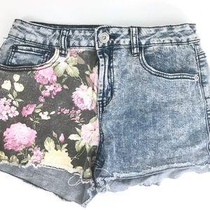 💟 BOGO Free! | Dollhouse Floral Jean Shorts